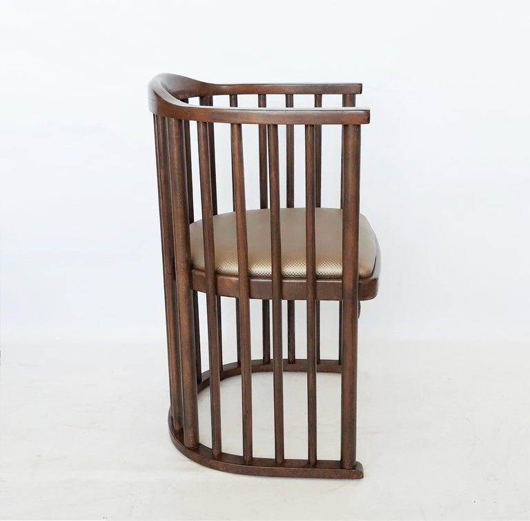 Austrian One or Six Armchairs Designed by Josef Hoffmann For Sale