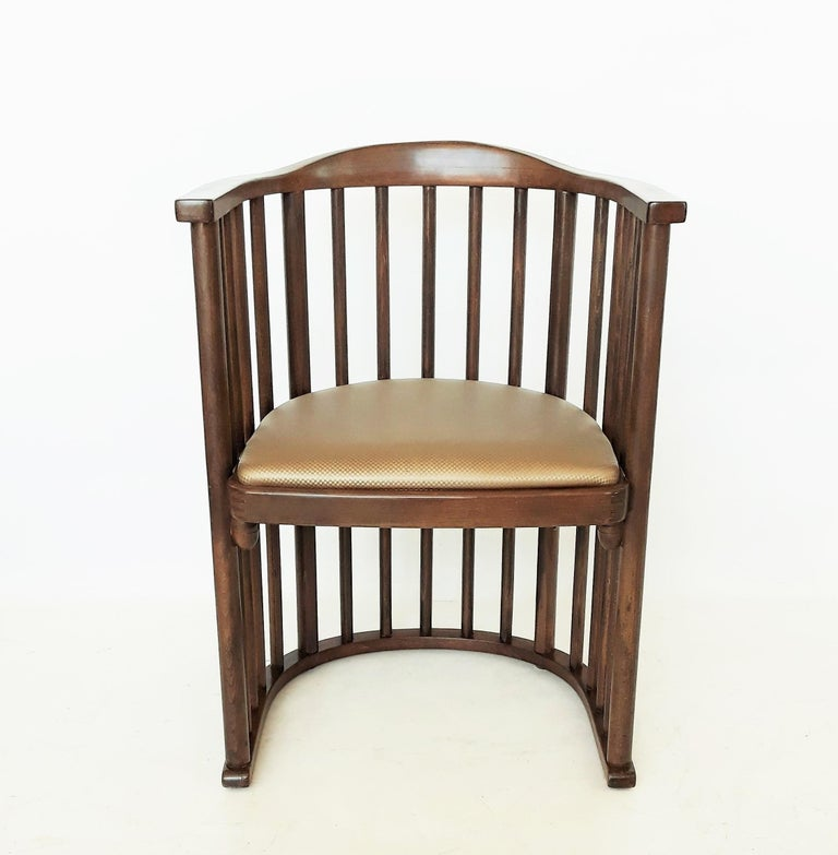 Upholstery One or Six Armchairs Designed by Josef Hoffmann For Sale