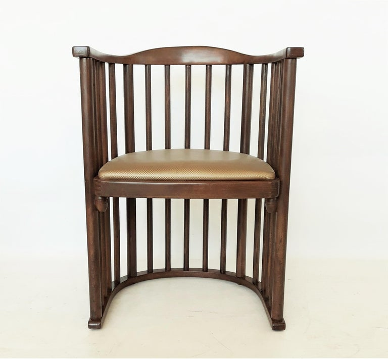 One or Six Armchairs Designed by Josef Hoffmann For Sale 1