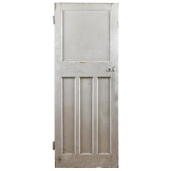 One over Three Salvaged Softwood Door, 20th Century