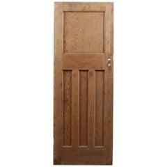 One over Three Vintage Interior Door, 20th Century