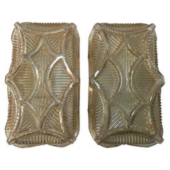 One Pair of 1950s Art Deco Style Wall Lamp Sconces