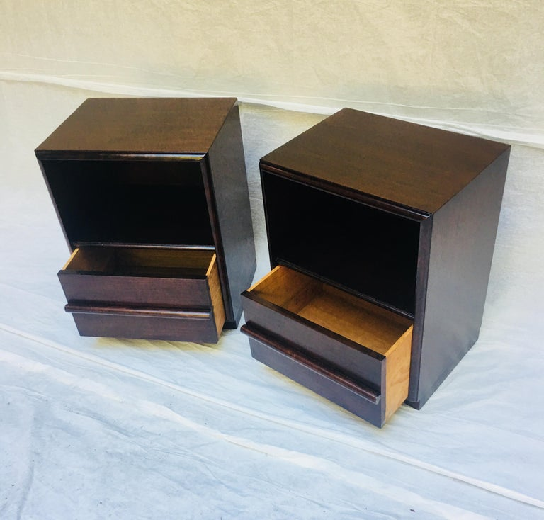 American Robsjohn-Gibbings pair of night stands for Widdicomb, 1950s  For Sale