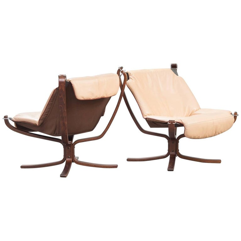 "One Pair of Sigurd Ressel ""Falcon"" Chairs for Vatne Møbler For Sale"