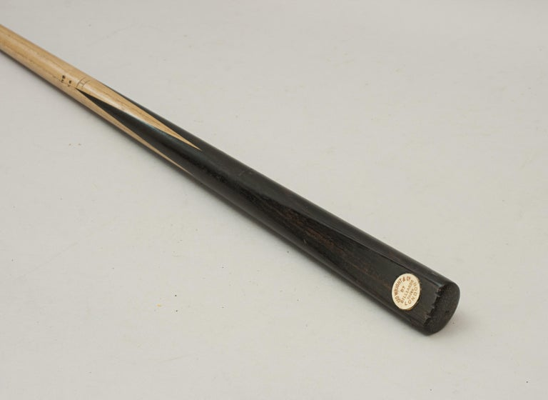 Ash One Piece Geo. Wright & Co. Billiard Cue, Snooker Pool Cue For Sale