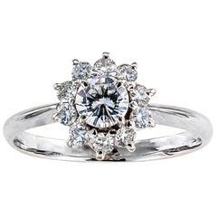 One Quarter Carat Diamond Platinum Engagement Ring