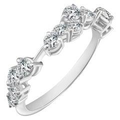 Modern Cluster Diamond Ring with White Diamonds, Alternative bridal promise ring