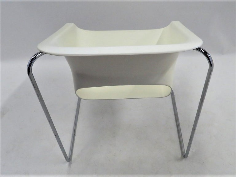One Set 4 Space Age Modern Lotus Series Chairs Paul Boulva, Artopex Canada 1970s For Sale 2