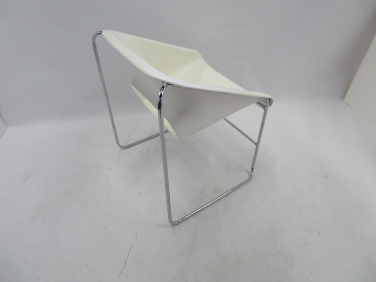 One Set 4 Space Age Modern Lotus Series Chairs Paul Boulva, Artopex Canada 1970s For Sale 3