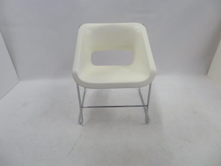 One Set 4 Space Age Modern Lotus Series Chairs Paul Boulva, Artopex Canada 1970s For Sale 5