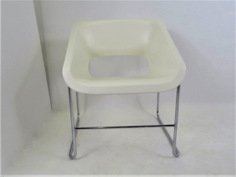 One Set 4 Space Age Modern Lotus Series Chairs Paul Boulva, Artopex Canada 1970s In Good Condition For Sale In Miami, FL