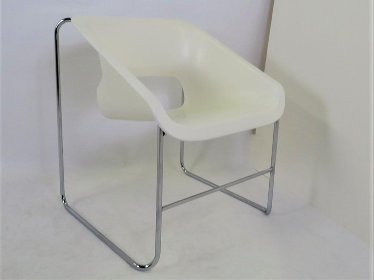 Late 20th Century One Set 4 Space Age Modern Lotus Series Chairs Paul Boulva, Artopex Canada 1970s For Sale