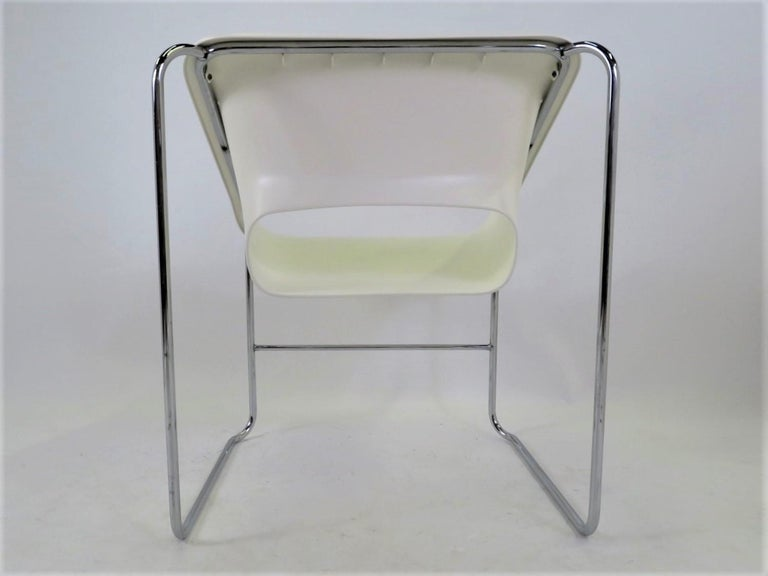 One Set 4 Space Age Modern Lotus Series Chairs Paul Boulva, Artopex Canada 1970s For Sale 8