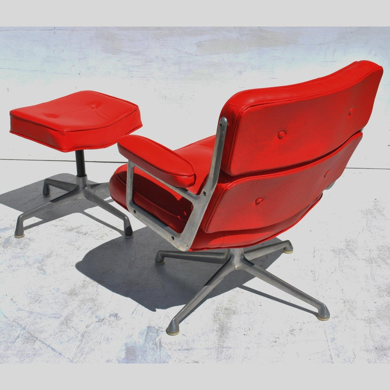 Mid-Century Modern One Set Herman Miller Time Life Lounge Chair and Ottoman