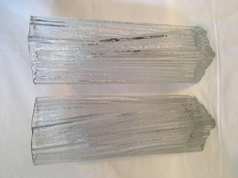German One Set of Rosenthal Glass Vases by Martin Freyer For Sale