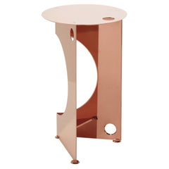 One Side Table in Copper