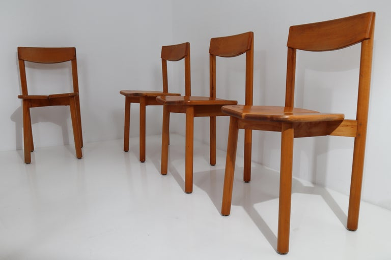 One Table, Six Chairs and Two Stools by Pierre Gautier Delaye, France, 1960s For Sale 5