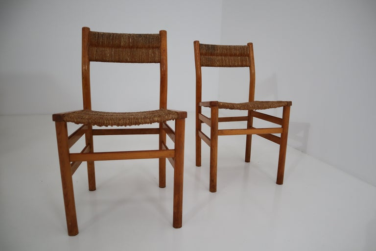 One Table, Six Chairs and Two Stools by Pierre Gautier Delaye, France, 1960s For Sale 7