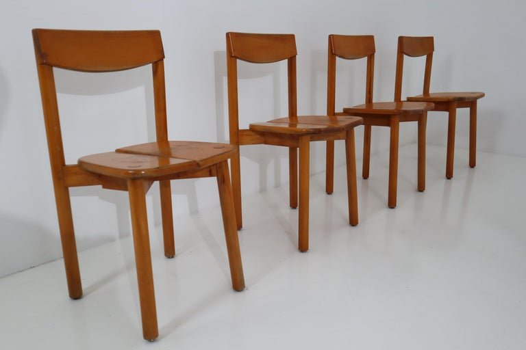 One Table, Six Chairs and Two Stools by Pierre Gautier Delaye, France, 1960s For Sale 9