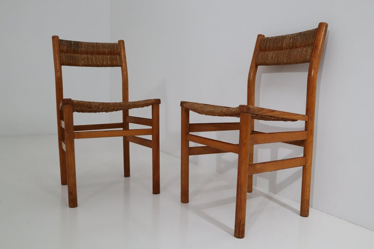 One Table, Six Chairs and Two Stools by Pierre Gautier Delaye, France, 1960s For Sale 10