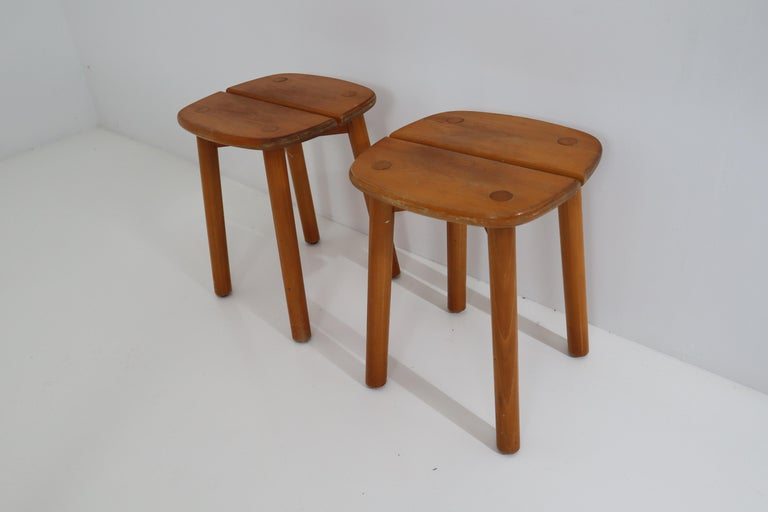 One Table, Six Chairs and Two Stools by Pierre Gautier Delaye, France, 1960s For Sale 11