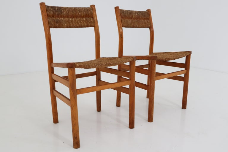 One Table, Six Chairs and Two Stools by Pierre Gautier Delaye, France, 1960s For Sale 14