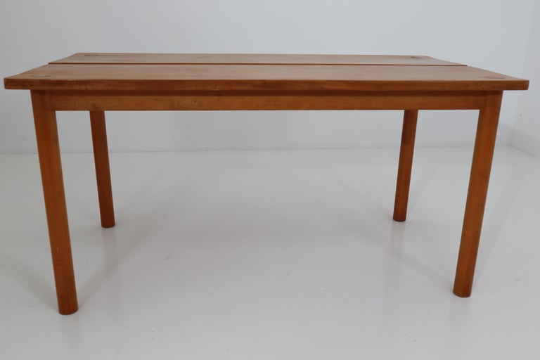 20th Century One Table, Six Chairs and Two Stools by Pierre Gautier Delaye, France, 1960s For Sale
