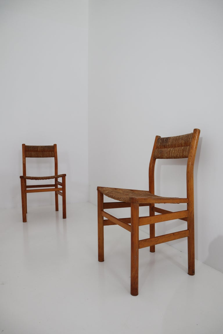 One Table, Six Chairs and Two Stools by Pierre Gautier Delaye, France, 1960s For Sale 3