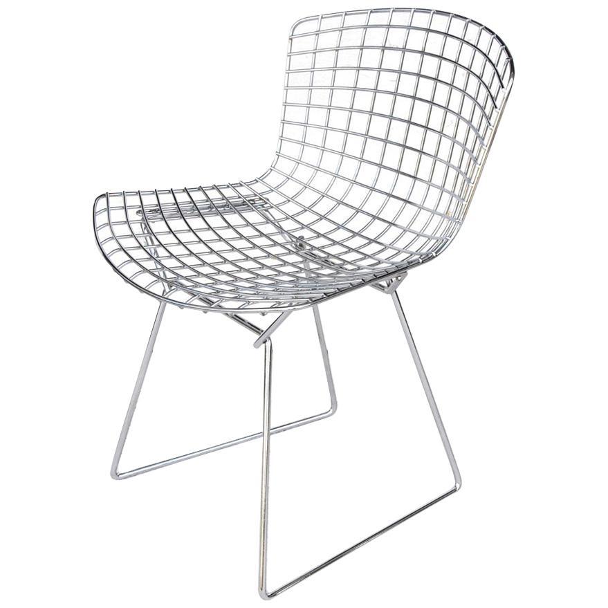One Vintage Midcentury Restored Knoll Bertoia Side Chair