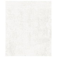 One White - Plain Light Hand Knotted Wool Tencel Rug