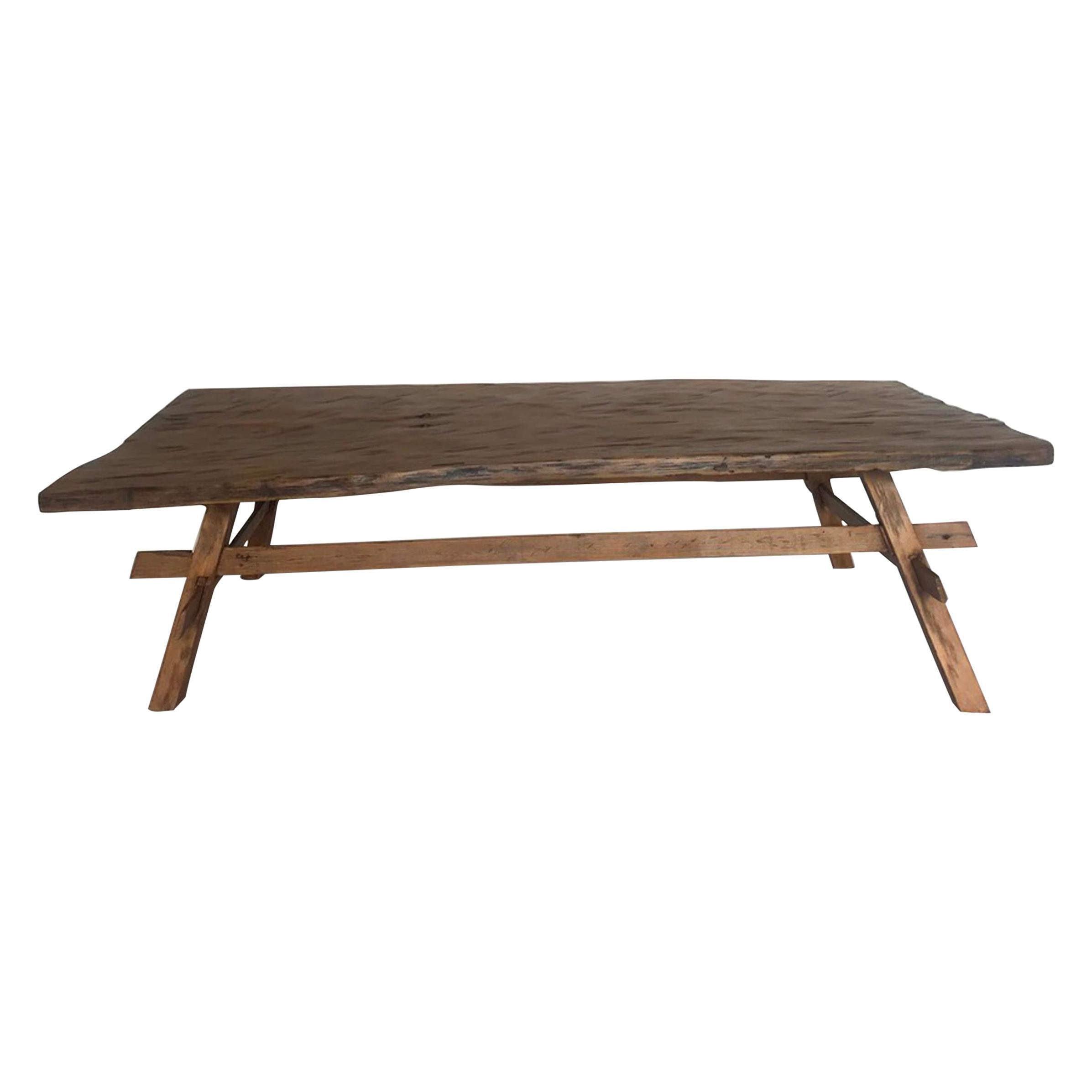 One Wide Board Rustic Coffee Table