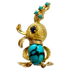 One Yellow Gold Duck Brooch, France, circa 1955