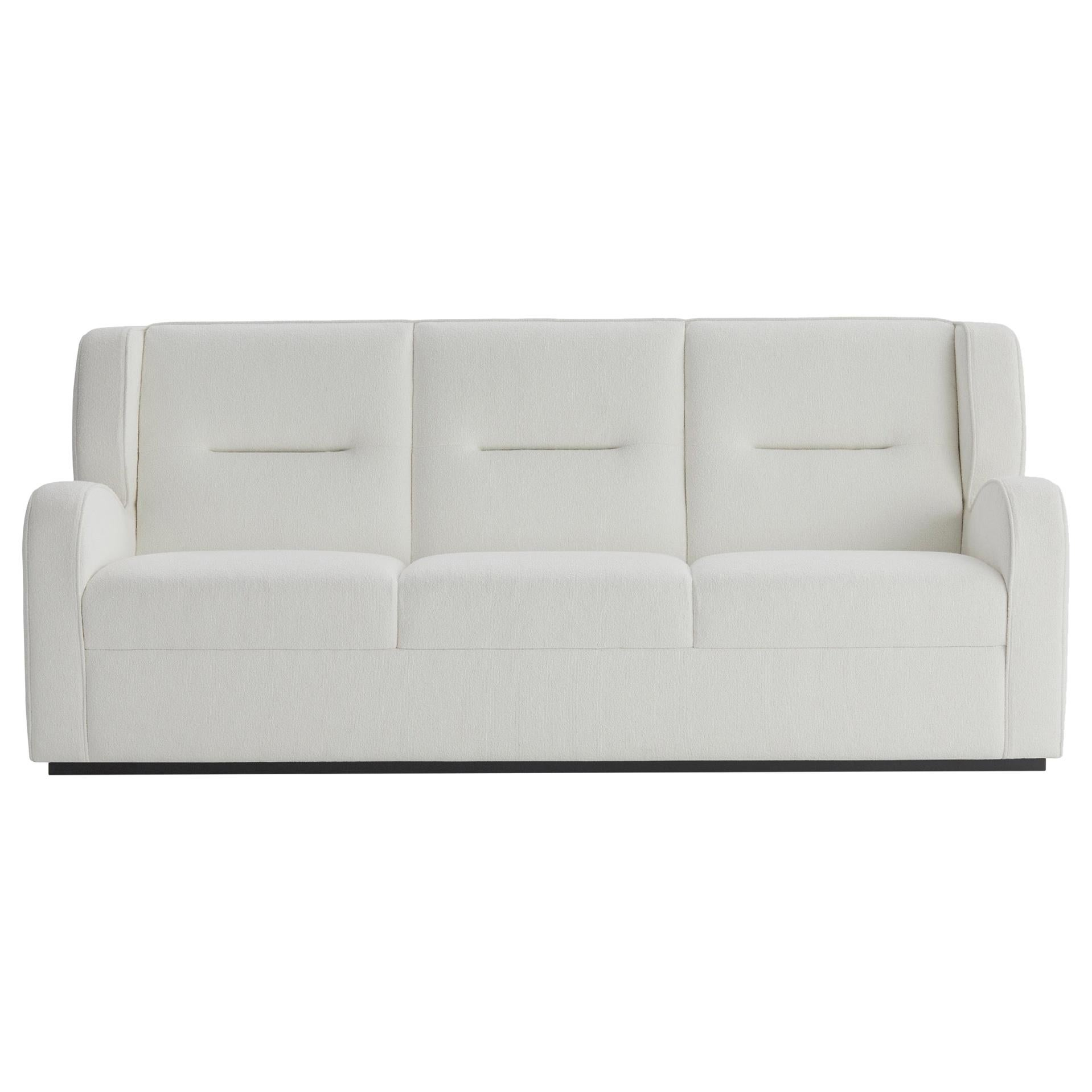 O'neill 3-Seat Sofa in White with Black Lacquer Plinth
