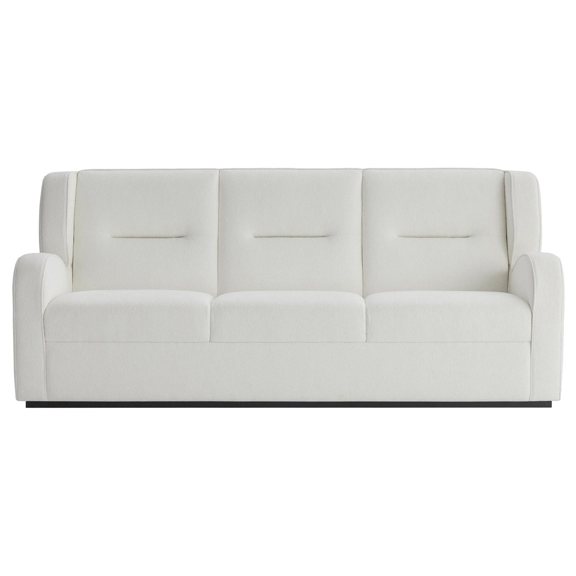 O'neill Sofa in White Gobi with Black Lacquer Plinth