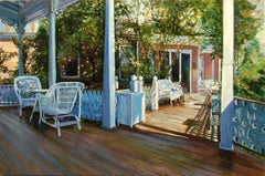 Cape May Porch: Angel of The Sea, Oil Painting