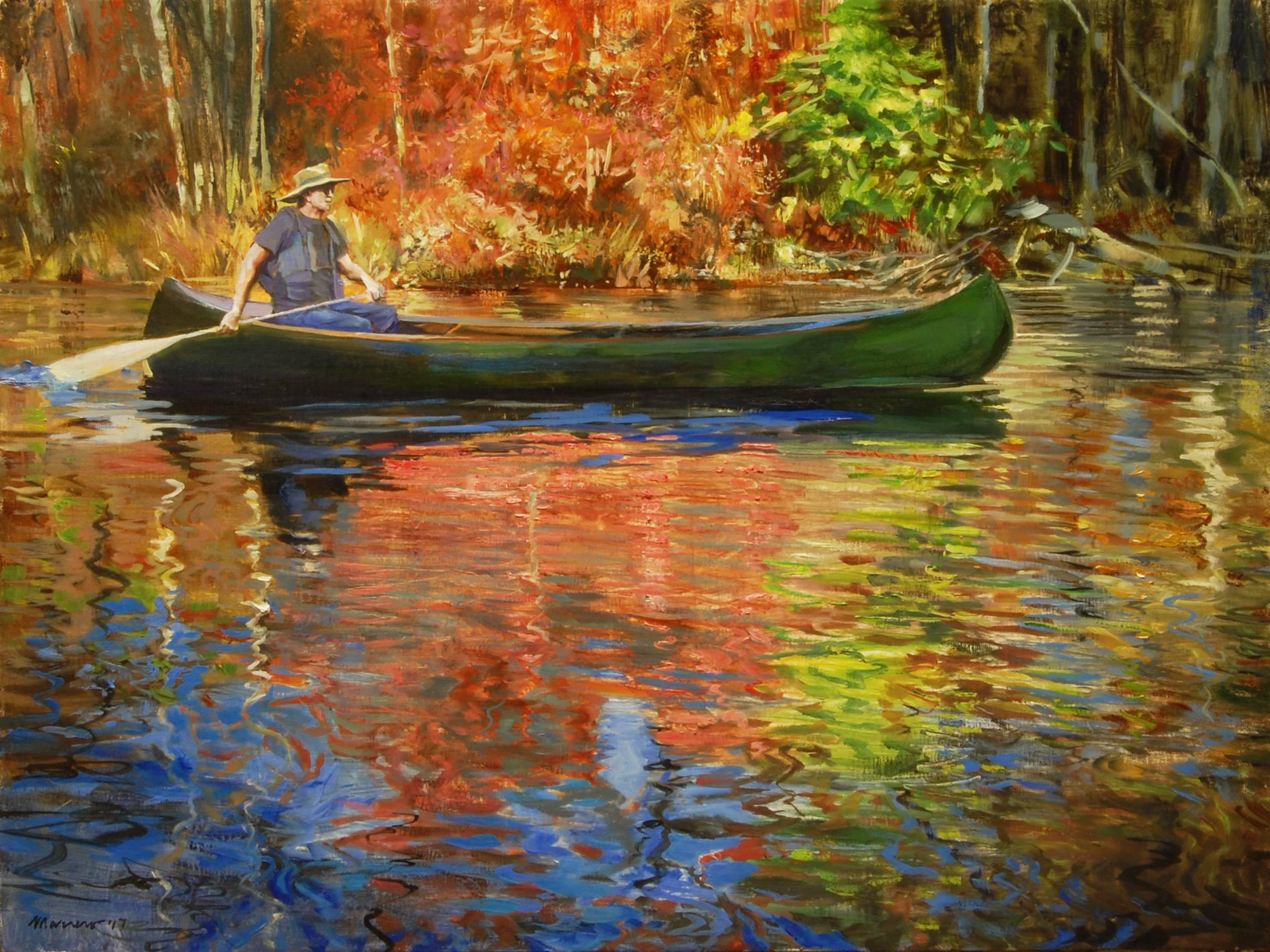 Slicing Fall Colors, Oil Painting
