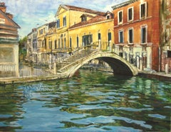 Venice after the Rain, Oil Painting