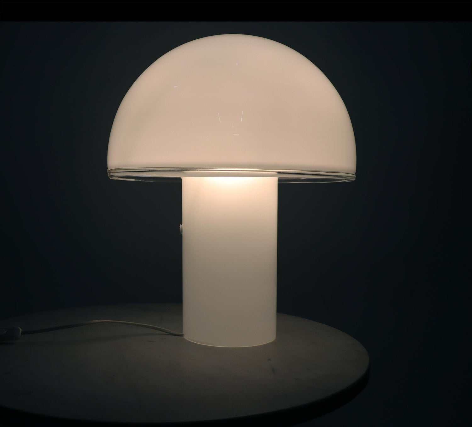 Onfale Big Murano Glass Mushroom Lamp By Luciano Vistosi For