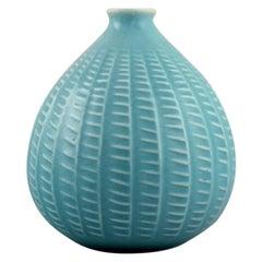 Onion-Shaped Arabia Vase in Glazed Ceramics, Finnish Design, Mid-20th Century