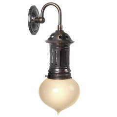 Onion Vaseline Sconce in Vented Copper Fixture