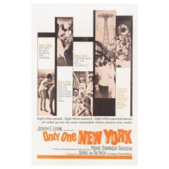"""Only One New York"" 1964 U.S. One Sheet Film Poster"