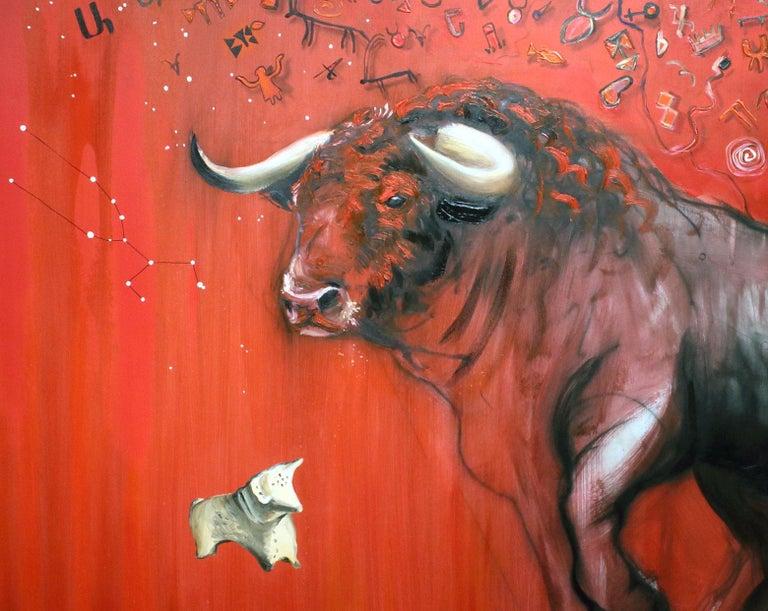 Bull - Painting by Onnik Karanfilian