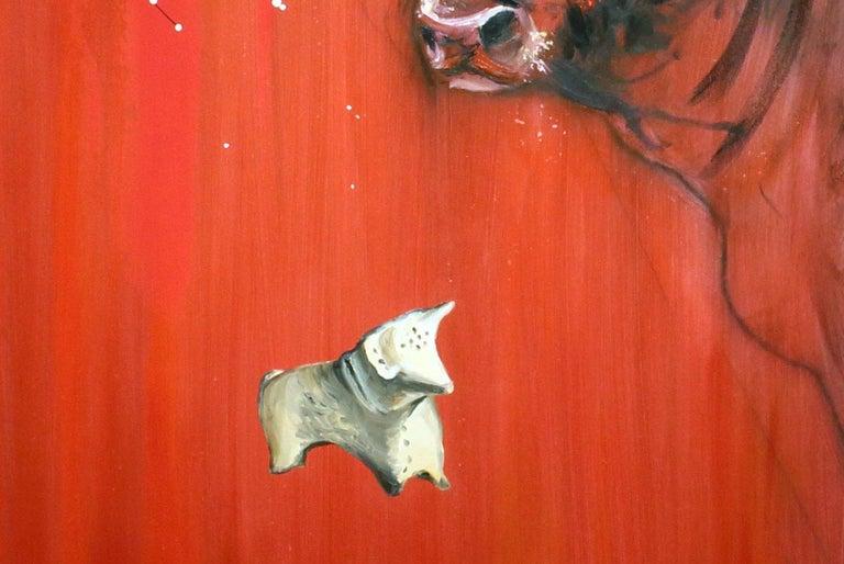 Bull - Impressionist Painting by Onnik Karanfilian