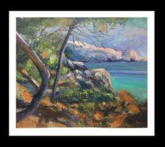 """coast of Mallorca"" 2005 original acrylic canvas painting"