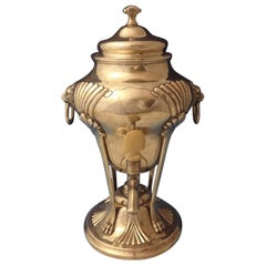 Onslow by Tuttle Sterling Silver Hot Water Urn Samovar Lions Head #1835