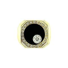 Onxy and Diamond Men's Ring