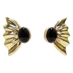 Onyx & 14k Gold Earrings