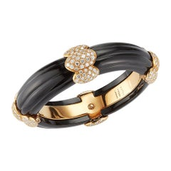 Onyx and Diamond Bangle Bracelet by Van Cleef & Arpels