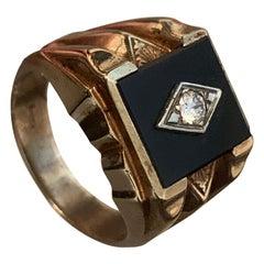 Onyx and Diamond Ring, Diamond