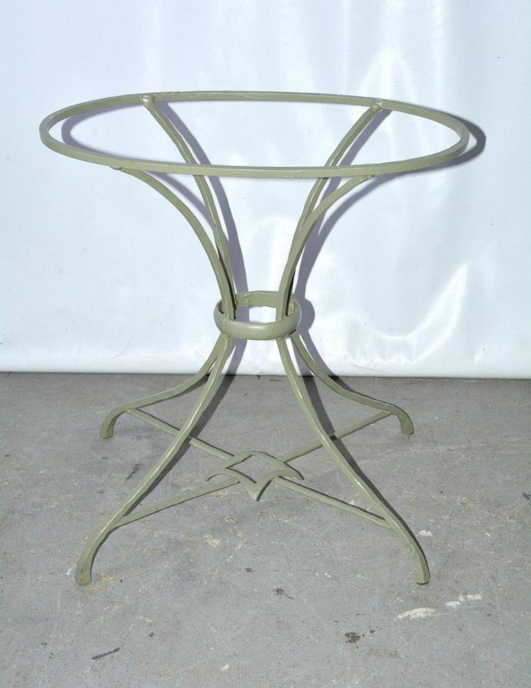 Onyx and Metal Base Side Table For Sale 1